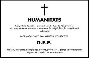 Esquela de humanitat
